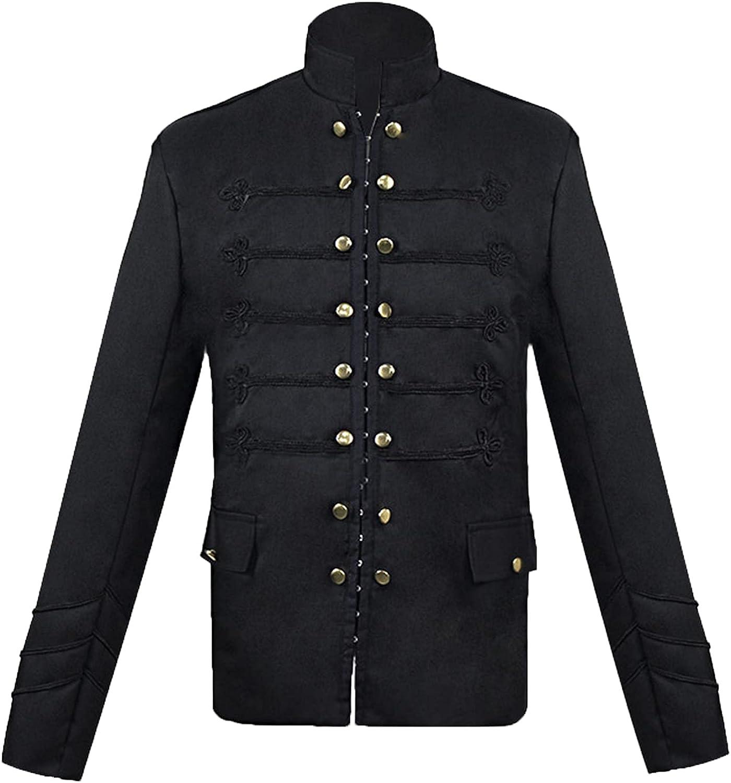 Solid Color Alternative dealer Halloween Jacket Buckle 2021 5 ☆ very popular Men's Cardigan