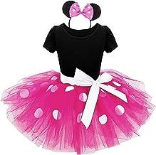 Fuxia - talla 100-3 años - vestido - disfraz - minnie - mouse - leotardo - tutú - tul - diadema - carnaval - halloween - cosplay - accesorios - niña - regalo minnie