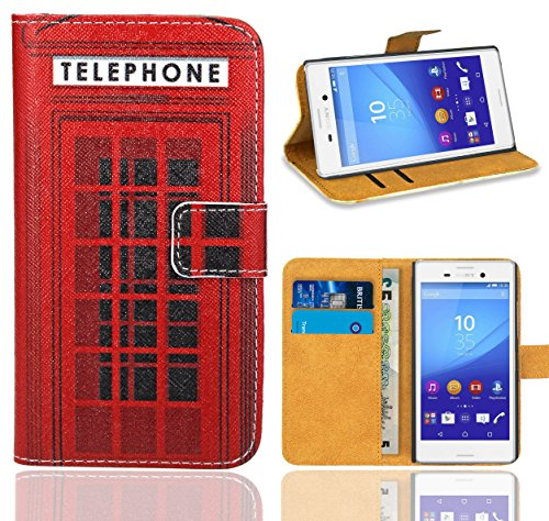Sony Xperia M4 Aqua Handy Tasche, FoneExpert® Wallet Hülle Flip Cover Hüllen Etui Ledertasche Lederhülle Premium Schutzhülle für Sony Xperia M4 Aqua (Pattern 12)