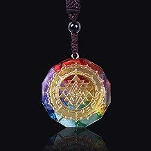 JYEMDV Orgonite Pendant Sri Yantra Necklace Sacred Geometry Chakra Energy Necklace Meditation Jewelry