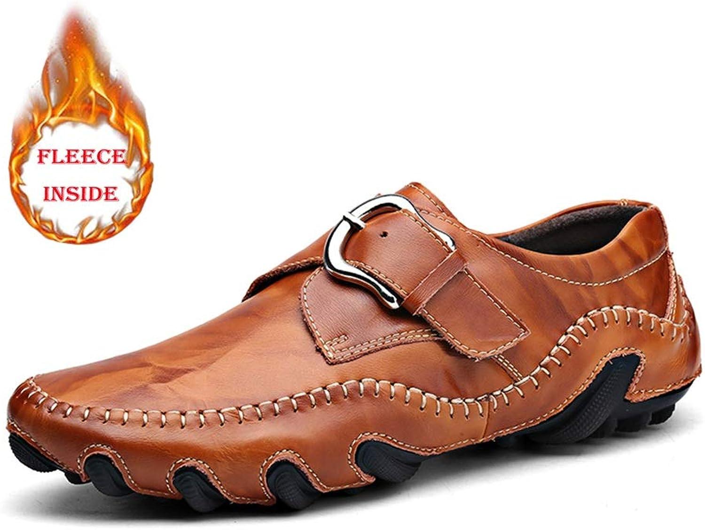 Ying xinguang Herren Driving Loafer Lässig Lässig Lässig Und Erfrischend Warmes Fleece Nach Innen Schnalle Dekoration Haken Loop Strap Weiche Sohlen Große Größe  b02c08