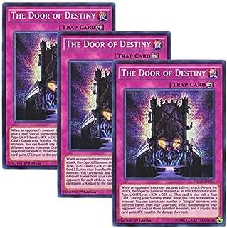 Yu-Gi-Oh! y3 Pieces setz English Version WSUP-EN 031 The Door of Destiny The Door of Destiny (Prismatic Secret Rare) 1st Edition
