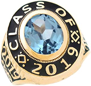 10k Gold Simulated Birthstone 2019 Graduation Mens Class Ring