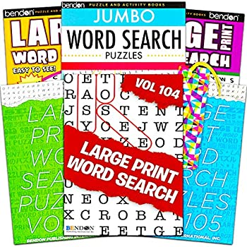Title Large Print Word Search Books for Adults Super Set -- 6 Jumbo Word Find Puzzle Books with Large Print  Over 500 Pages Total