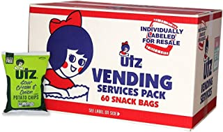 Utz  Potato Chips, Sour Cream & Onion, 1 oz Bag (Pack of 60)