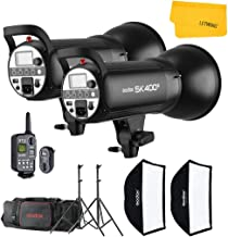 GODOX SK400II 800W 2.4G Photography Flash Studio Strobe Kit Two 400w Sk400II Monolight Lighting,Includes 2X 400W SK400II Strobe Light+2X Light Stand+2X 60X90 CM Soft Box+1X Standard Reflector+XT-16