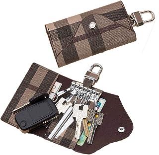 Women Men Leather Car Key Chain Card Holder Money Wallet Pouch Case 6 keys Organizer Bag Case
