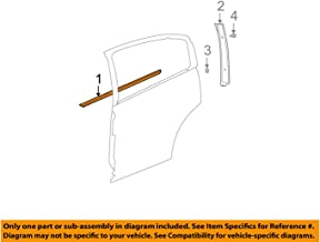 Genuine GM 15235726 Window Sealing Strip, Left, Outer, Rear