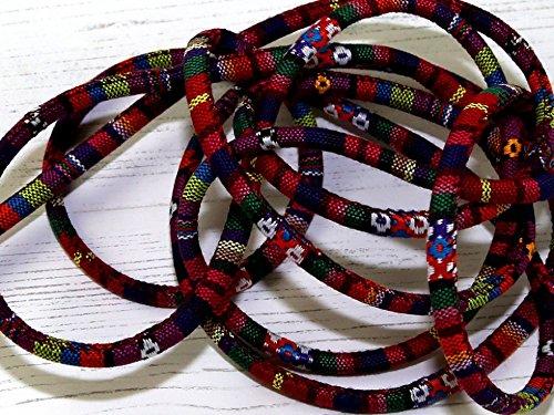 Geflochtene Schnur im indischen Stil, 7 mm, Farbe 90, Meterware