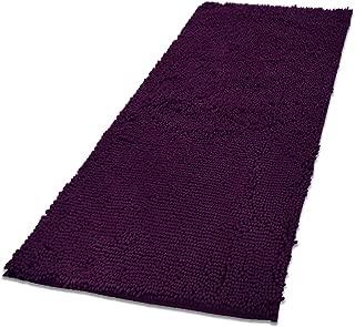 MAYSHINE Absorbent Microfiber Chenille Door Mat Runner for Front Inside Floor Doormats, Quick Drying, Washable-31x59 Inches Plum