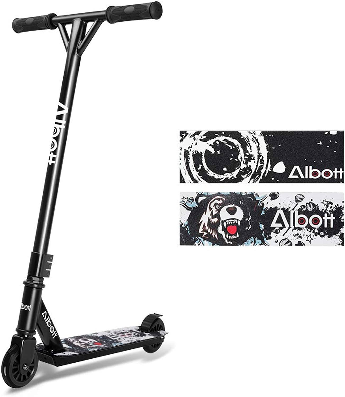 Albott Pro Scooters Stunt Scooter  Complete Trick Scooters Beginner Freestyle Sports Kick Scooter with Fixed Bar for Age 8+ Kids,Boys,Teens,Adults