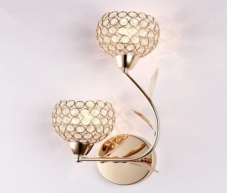Wandleuchte Loft modern Stil Gold Kristallen Wandbeleuchtung 230V Wandlampe innen kompakt Beleuchtung Wohnzimmer Schlafzimmer Flur Nachttischlampe Ganglichter Restaurant Lichter Treppenlicht E142