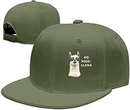 Unisex Cool No Problem-LLAMA Snapback Flat Cap Peak Fit Hat Black