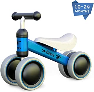 Baby Balance Bike Toddler Tricycle Bike No Pedals 10-24 Months Ride-on Toys Gifts Indoor Outdoor for One Year Old Boys Girls First Birthday Thanksgiving Christmas