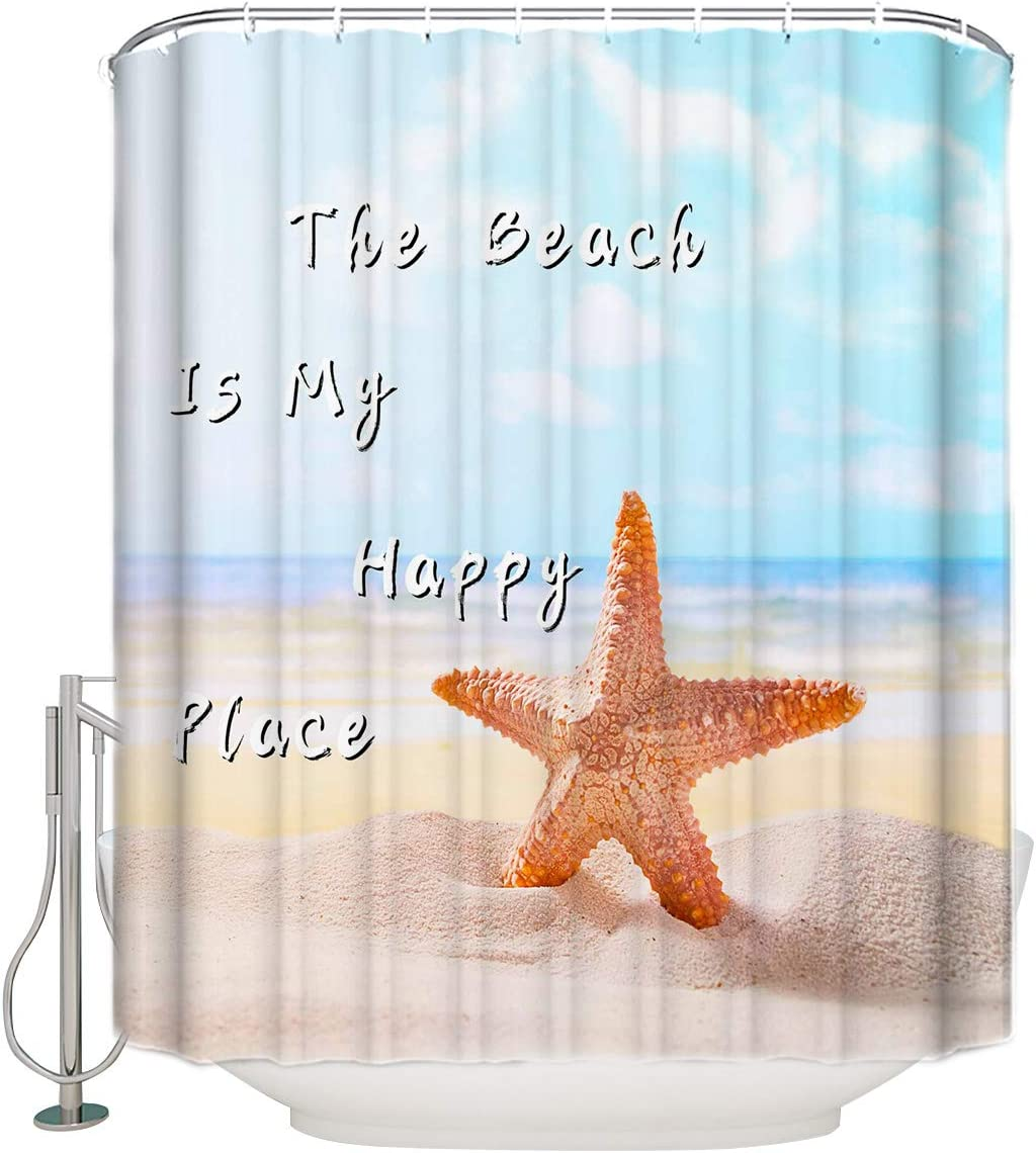 Olivefox 72x96 Inches Free shipping Shower Curtain on Starfish Beach Ranking TOP15 Bath The