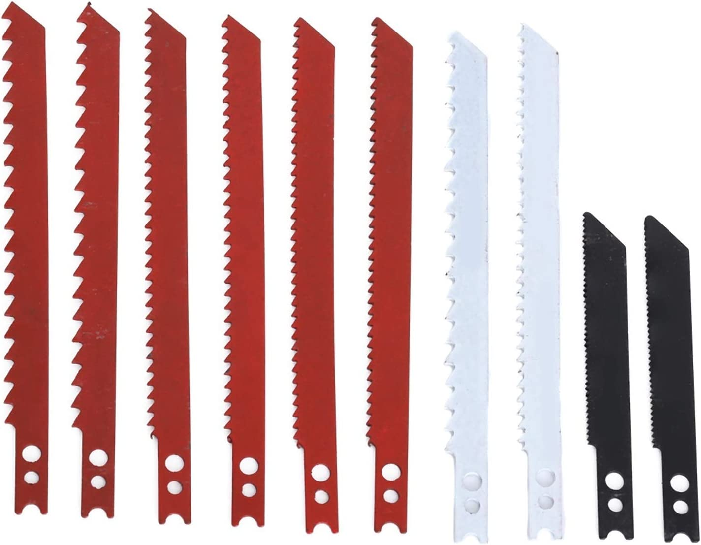 LFLQEW 10pcs Jigsaw Blades Set for Saw Jig Decker Met and Under blast sales Price reduction Black
