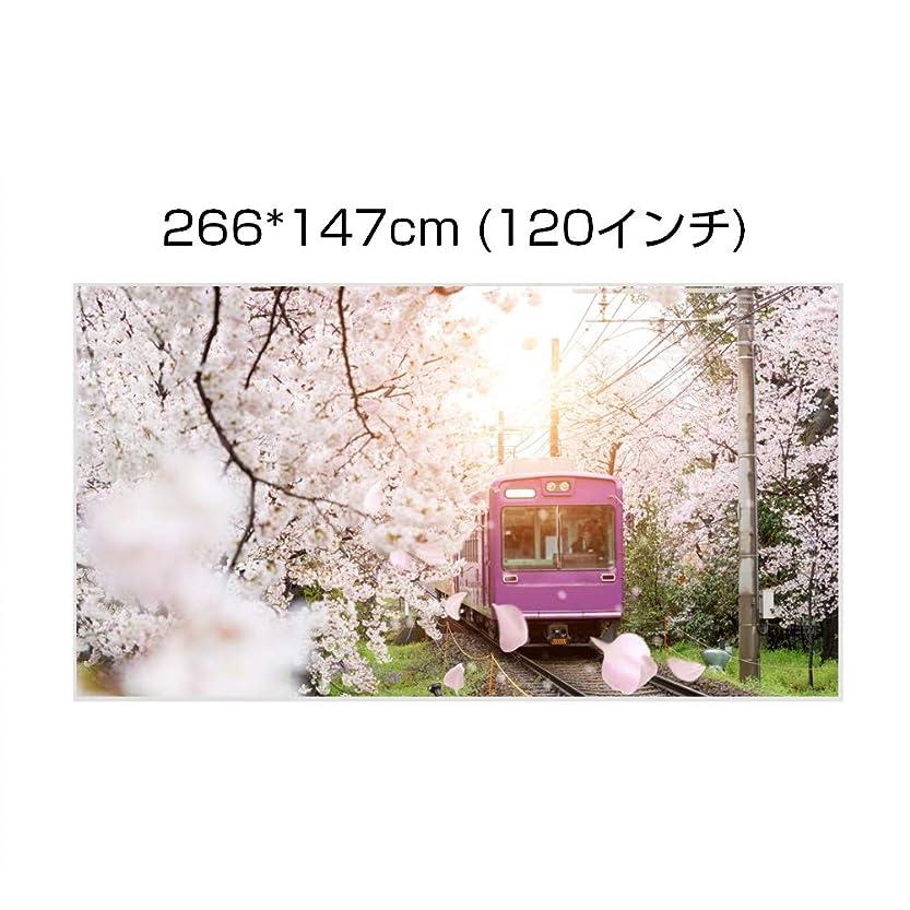 結婚式最近ユニークなAnauto [プロジェクターカーテン] 簡単に取り付け 持ち運びやすい ポータブル白カラープロジェクションスクリーン16:9(120インチ)