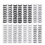 Frcolor 80 Pairs Natural Fake Eyelashes 8-Style Thick Long Eye Lashes for Women Lady Teenager Girls
