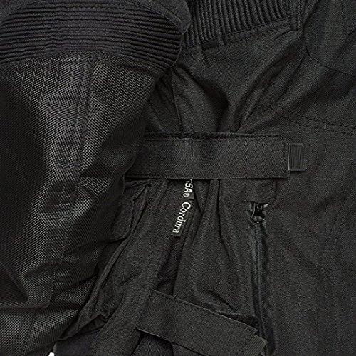 Die Infinity schwarz wasserdicht belüftet Thermo Armour Motorrad Motorrad Jacke Gr. XX-Large, Schwarz – Schwarz - 3