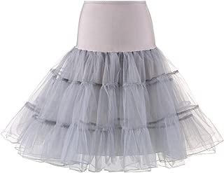 Leey Damen Tüllrock Tutu Kleid Petticoat Tutu Rock Unterrock Kurz Ballett Tanzkleid Ballkleid Abendkleid Petticoat Reifrock Unterrock Underskirt Kleid für Party Hochzeit Show