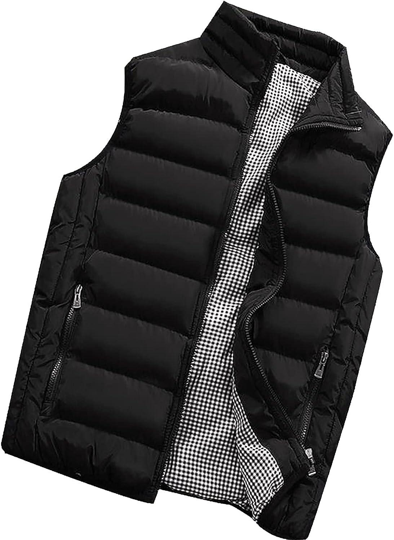 QXDLDHT Men Autumn Winter Coat Padded Cotton Vest Warm Hooded Thick Vest Tops Jacket Graphic Hoodie Pullover Sweatshirt