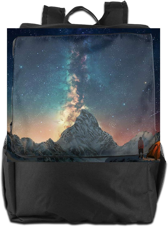Camp Scenery Printed Girls Backpack Lightweight Casual Shoulder Bag School Daypacks