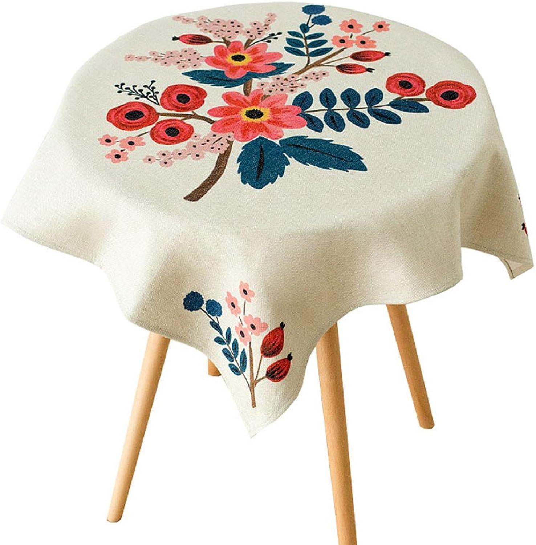 Meng Wei Shop Esstisch Baumwolle Leinen Tischdecke Staubschutz Handtuch TV Nachttisch Abdeckung handbemalte Design Dick und langlebig (Größe   140  180cm)