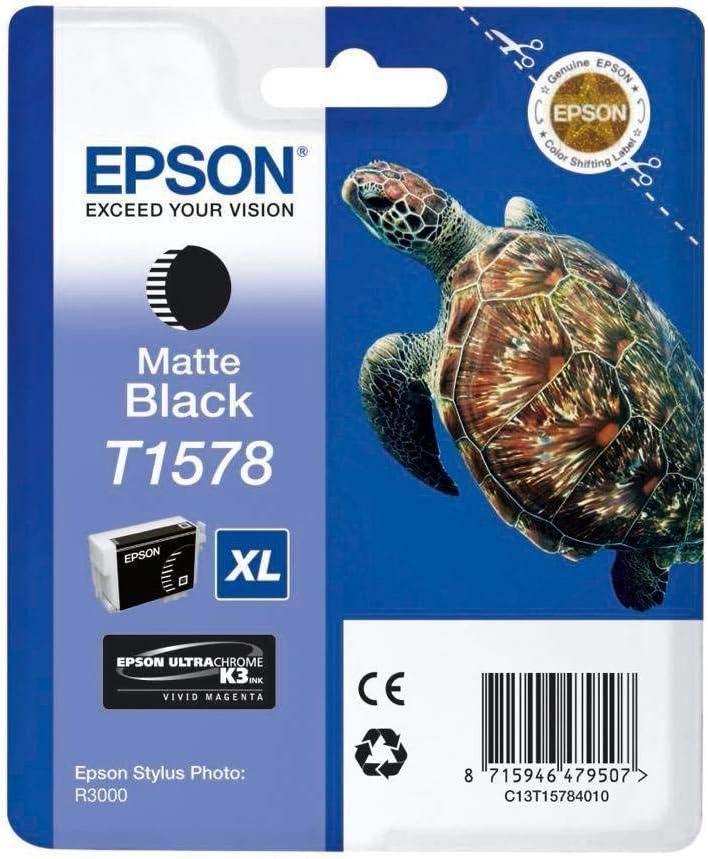 Epson T1577 Tintenpatrone Schildkröte Singlepack Hell Schwarz Bürobedarf Schreibwaren
