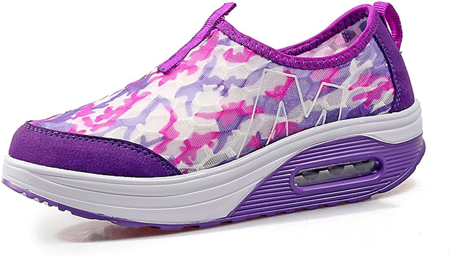 pink town Classic Printing Women Platform Wedges shoes Height-Increasing Animal Pattern Fitness Work Out Sneaker