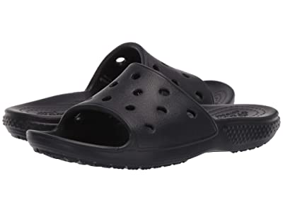 Crocs Kids Classic Slide (Little Kid/Big Kid) (Black) Kid