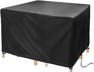 Landrip Abdeckung für Gartenmöbel, Abdeckplane Gartenmöbel Wasserdicht Anti-UV, 420D Oxford Schutzhülle Quadratisch für Gartenmöbel Gartentische Sitzgarnituren Möbelsets �5x125x74CM