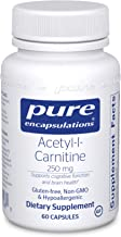 Pure Encapsulations Acetyl-l-Carnitine 250 mg | Memory Supplement for Brain, Mental Focus, and Emotional Wellness* | 60 Ca...