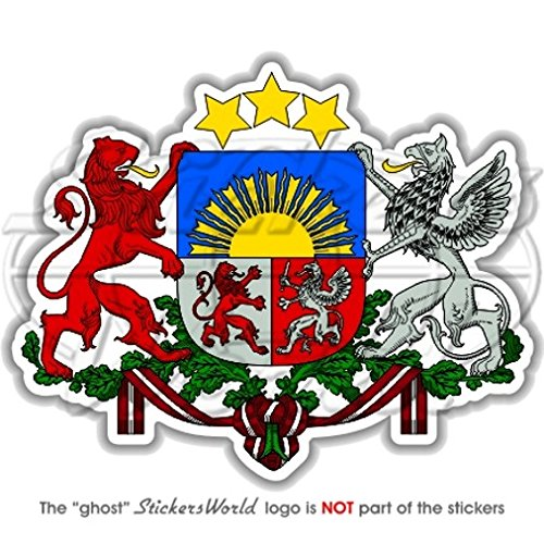 Lettonie Letton armoiries badge Crest championnat de République Serbe de 100 mm (10,2 cm) Vinyle autocollant, autocollant