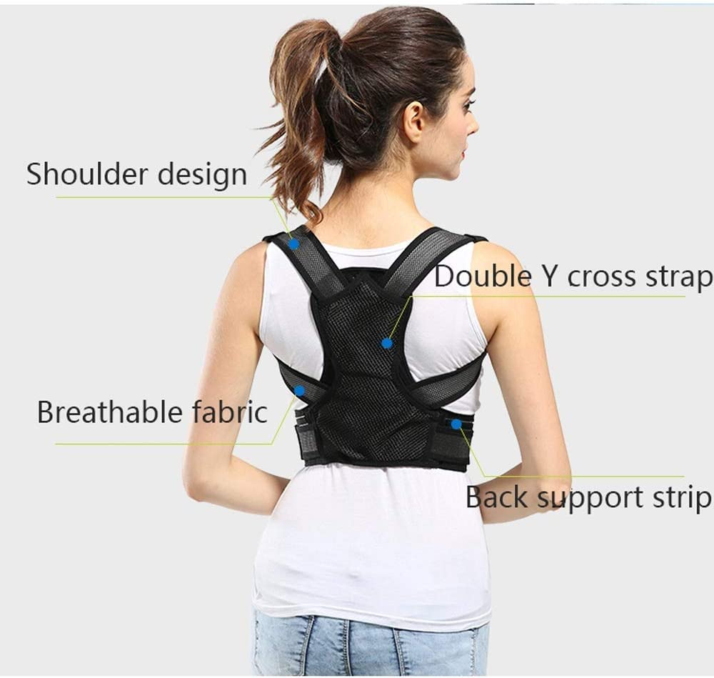 YUMUO ?? Correction Belt Invisible Correction Clothing for Men and Women for Adults Hunchback Correction Belt Child Care Anti-rrection Braces for artefacts (Size: M) 1