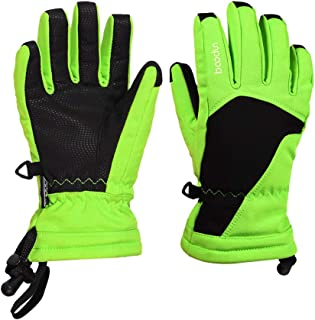 Ski Gloves for Kids, Thermal Thinsulate Gloves for Winter Sports Winter Motorcycling Gloves, Thick Thermal Gloves Touch Screen, Cold Weather Gloves Warm Hands for Skiing Running Cycling