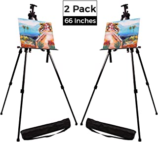 Artecho Artist Easel Display Easel Stand 2 Pack, Metall Tripod Stand Easel for Painting, Hold Canvas from 21