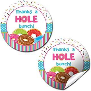 Donut Birthday Party Sticker Labels, 40 2