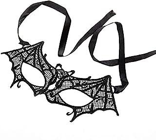 Ndier Máscara de Encaje Sexy máscara de Halloween para Masquerade Fiesta, Bodas, Mardi Gras, máscara de Carnaval Veneciano Anonimo y Dance, Estilo murciélago