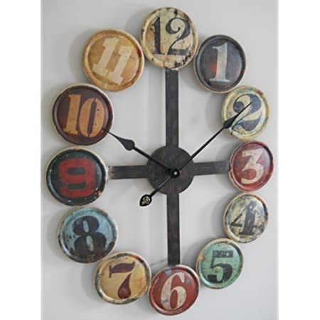 Amazon Com Gsm Large Metal Contemporary Wall Clock Home Kitchen