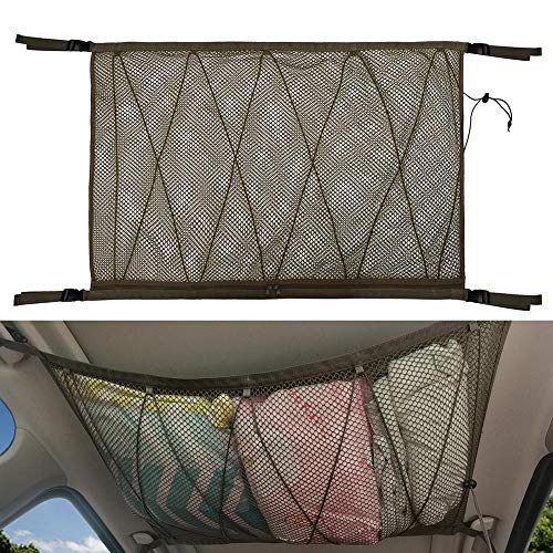 PPuujia Bolsa de almacenamiento para el coche, para el techo, para el coche, bolsa de almacenamiento para el techo, para el coche, para camionetas, techo, equipaje (color: caqui)