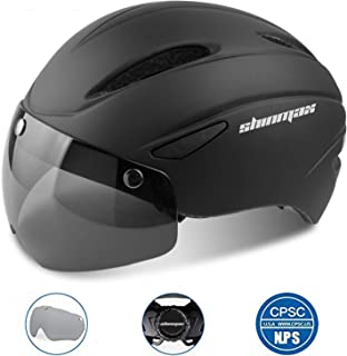 Shinmax Bike Helmet, Bicycle Helmet Men/Women CPSC Safety Standard with Detachable Magnetic Goggles Adjustable for Adult Road/Biking/Mountain Cycling Helmet BC-001 Bonus with Carrying Bag
