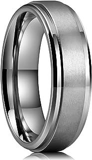 Basic 4mm 6mm 7mm 8mm 9mm Mens Titanium Wedding Ring Brushed Finished Wedding Band..