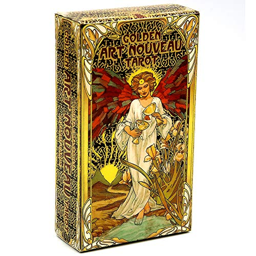 DOLS 78 Full Colour Cards Tarot Cards,Golden Art Nouveau Tarot with Gold Foil Impressions & E-Instructions