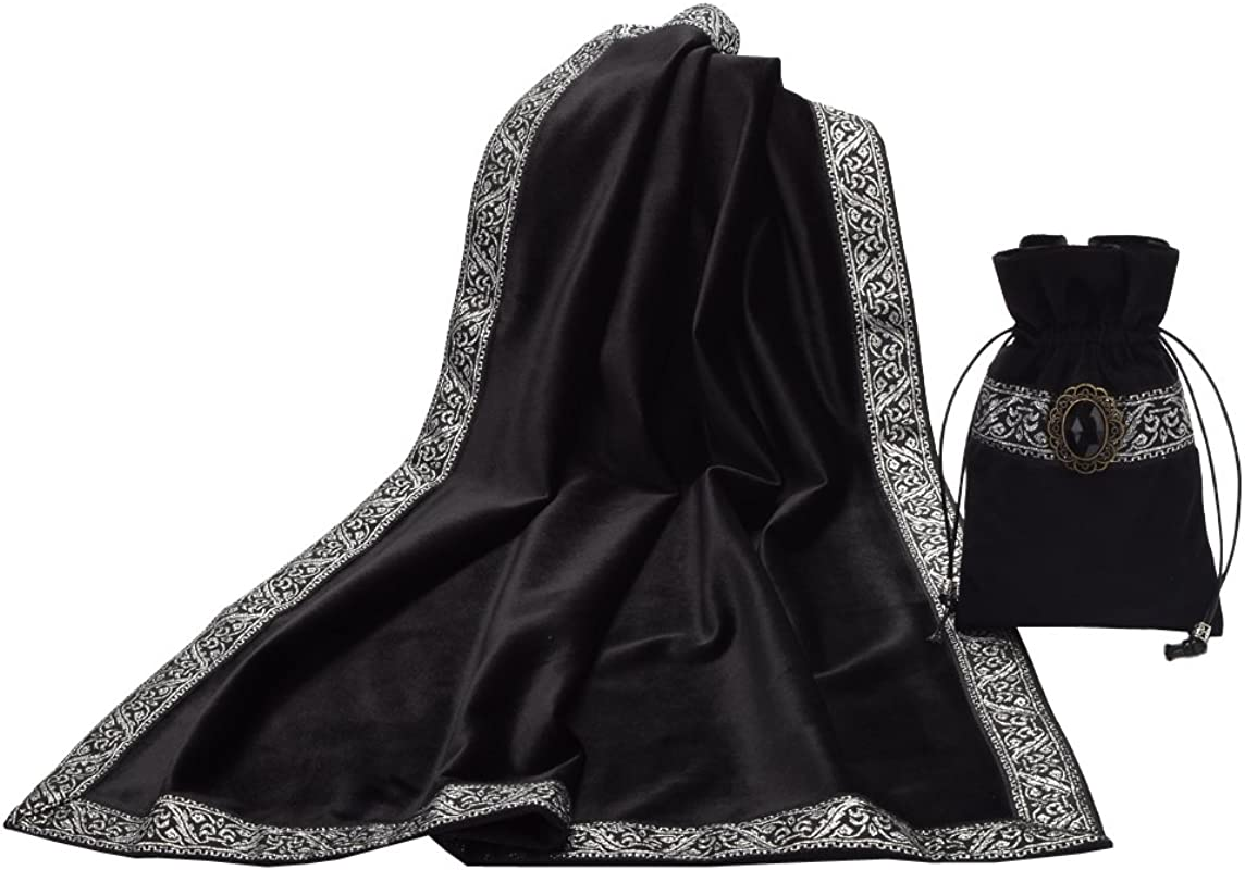 BLESSUME ATAR Tarot Table Cloth And Pouch Black