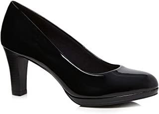 2fdc92bde9477 Good for the Sole Womens Black Patent 'Gala' High Heel Wide Fit Court Shoes
