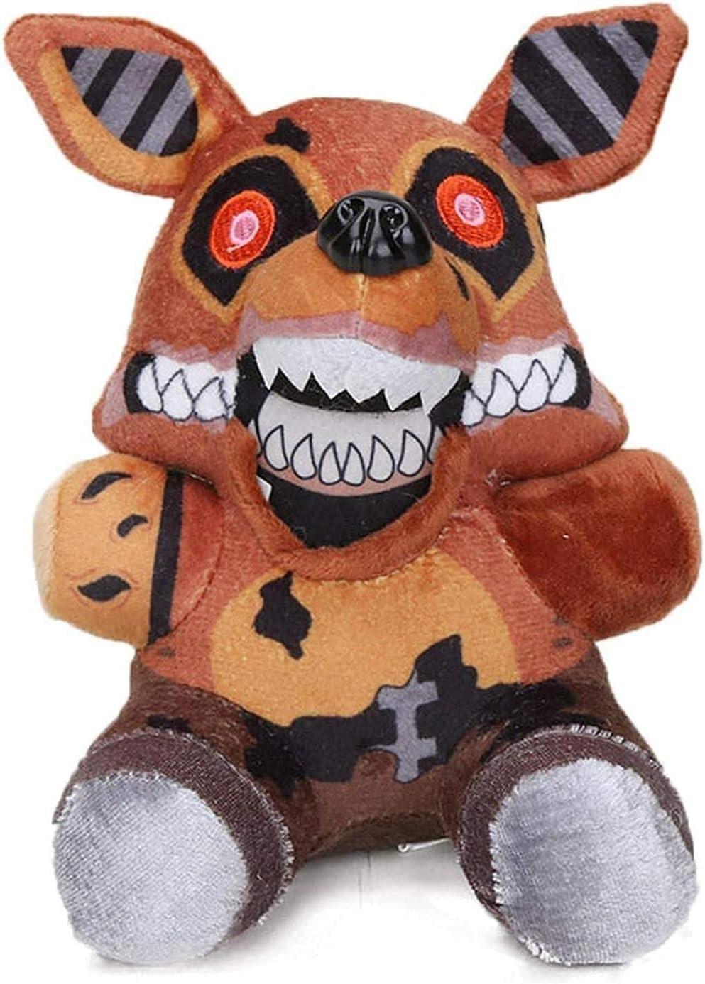 25cm 1 year warranty Nightmare Ranking TOP5 Freddy Bear Foxy Springtrap Bonnie Plush Fiv Toys