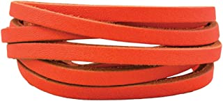 Springfield Leather Company's Neon Cowhide Ball Glove Lace (Neon Orange)
