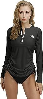 BesserBay Women's UV Sun Protection 1/4 Zip Long Sleeve Rash Guard Swim Shirt