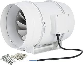 Hon&Guan Ventilador Extractor de Aire en Línea con con Temporizador / Motor de Dos-velocidades para Oficina , Hotel , Baño (ø200mm)