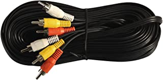Your Cable Store 50 Foot RCA Audio/Video Cable 3 Male to 3 Male
